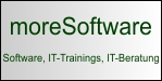 moreSoftware - Passwort-Manager moreSafe, Outlook AddIn moreRemind, Webinare, IT-Trainings, IT-Beratung