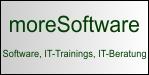 moreSoftware - Passwort-Manager moreSafe, Outlook AddIn moreRemind, Webinare, IT-Trainings, IT-Beratung